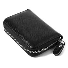 Fashionable Genuine Real Leather Credit ID Business Card Holder Pocket Wallet