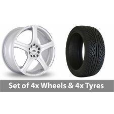 "4 x 17"" BK Racing 166 Silver Alloy Wheel Rims and Tyres -  225/50/17"