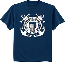 Men's t-shirt US Coast Guard USCG design mens tee navy blue