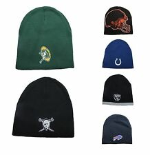NFL Team Logo Winter Beanie Hats 100% Acrylic Winter Knit Caps (PICK ONE)
