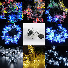 20LED SOLAR CHRISTMAS XMAS Tree WEDDING PARTY LAMP BUTTERFLY FAIRY STRING LIGHTS