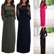 Sexy Women Summer Long Maxi BOHO Evening Party Dress Beach Dresses Sundress YG