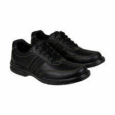 Clarks Sherwin Way Mens Black Leather Casual Dress Lace Up Oxfords Shoes