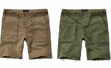 New Abercrombie By Hollister Mens Vintage Utility Shorts Nwt