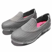 Skechers Go Flex-Extend Gray White Womens Casual Shoes Sneakers 14013-GRY