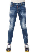 DSQUARED2 Dsquared² New Men Blue Denim Pants Jeans TIDY BIKER Made Italy NWT