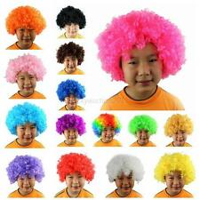 Mens Ladies Curly Afro Fancy Dress Wigs Funky Disco Clown Costume Cosplay Wig