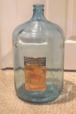 VINTAGE ARROWHEAD PURITAS GLASS WATER BOTTLE W/ ORIGINAL LABEL 5 GALLON