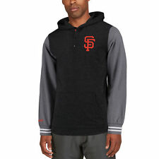 Mitchell & Ness San Francisco Giants Black/Charcoal Mid-Season Hoodie