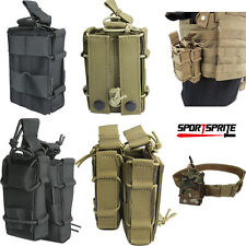 1000D Molle Tactical Hunting Rifle Pistol Holster Magazine Pouch Double/Single