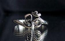 STERLING SILVER RING WITH BUDDHIST OHM AUM OM SYMBOL HIGH POLISHED
