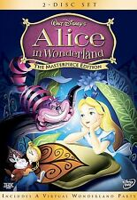 Alice in Wonderland (DVD, 2004, 2-Disc Set, The Masterpiece Edition) with extras