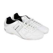 Diesel Korbin II S Mens White Patent Leather Lace Up Sneakers Shoes
