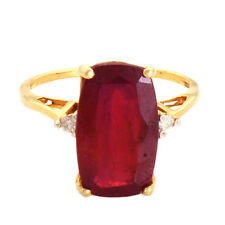 Ruby 7.15 Ct Diamond Genuine Gemstone Ring In 10kt Solid Yellow Gold Jewelry