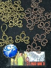 ✿ 20 ANTIQUE BRONZE RED COPPER SCROLL CONNECTOR CHARMS JEWELLERY FINDINGS ✿