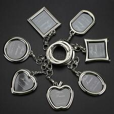 Valentines Day Photo Frame Picture Keychain Solid Key Ring Key Gift Lover Mum
