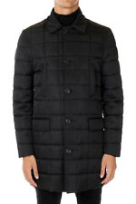 ID CORNELIANI New Men black quilted Padded Coat Jacket NWT