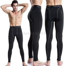 Mens Compression Base Layer Pants Tight Long Leggings Under Skin Sports Gear