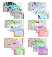 5pcs/pack Long-Sleeved Baby Infant Cartoon Bodysuits Boys Girls Jumpsuit Clothes