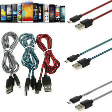 Over 2A Braided Quick Micro USB Data&Sync Charger Cable Cord For CellPhones Lot