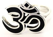 OM AUM STERLING 925 SILVER RING LUCKY HINDU SACRED SYMBOL JEWELRY NEW