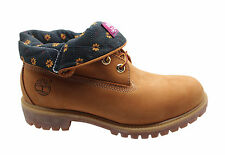 Timberland AF Roll Top Mens Boys Leather Lace Up Boots Wheat 6454A D54