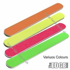 THE EDGE NEON COLOURED Nail Files VARIOUS Colours 100 180 240 & 320 Grit