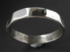 RARE GENUINE SILVER ROMAN WEDDING RING - wearable -