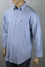 Ralph Lauren Blue Yarmouth Oxford Classic Dress Shirt Multi Color Pony NWT