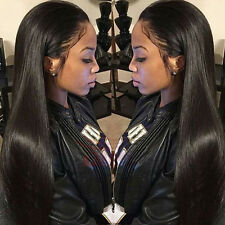 7A Indian Silky Straight Lace Front Wigs Full Lace Wigs Remy Human Hair Wigs