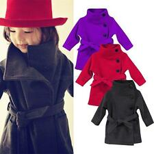 Toddler Girls Kids Jacket Trench Coat Hooded Windbreaker Outerwear Clothes