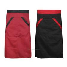 Cooking Kitchen Restaurant Waitress Waiter Waist Bib Apron Dress with 2 Pockets