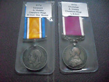 WW1 LSGC & WAR MEDAL TO DRUMMER & SERJEANT CHESHIRE REGIMENT
