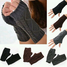 Vogue Lady Winter Wrist Arm Hand Warmer Knitted Long Fingerless Gloves Mitten