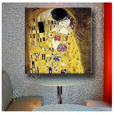 Synthetic CANVAS +GIFT The Kiss Gustav Klimt Wall Art Wall Decor Posters