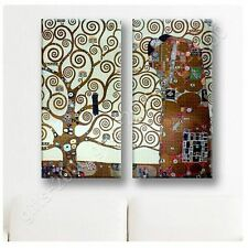 Synthetic CANVAS +GIFT Tree Of Life Gustav Klimt 2 Panels Pictures Posters