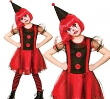 Girls Freaky Halloween Clown Fancy Dress Costume Scary Clown Ages 5-13
