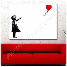 Synthetic CANVAS +GIFT Balloon Girl Banksy Giclee Posters Pictures Wall Art