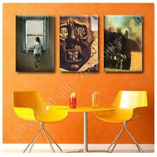 Synthetic CANVAS +GIFT Woman Window Face War Horseman Salvador Dali Set Of 3
