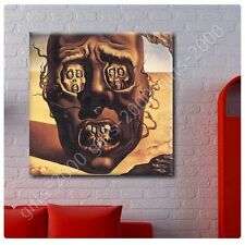 Synthetic CANVAS +GIFT The Face Of War Skull Salvador Dali Painting Posters