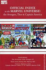 Official Index Marvel Universe Avengers Thor Capt. America #1 NM