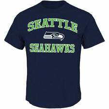 Majestic Seattle Seahawks College Navy Big and Tall Heart & Soul III T-Shirt