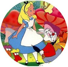 Alice In Wonderland Round Edible Party Cake Image Topper Frosting Icing Sheet