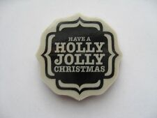 NEW STAMPIN UP LABEL BRACKET CLING MOUNT RUBBER STAMP ~... HOLLY JOLLY CHRISTMAS