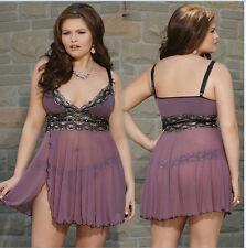 Ladies Sexy G-string Underwear Lingerie Nightgown Sleepwear Babydoll Dress