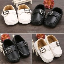 Baby Infant Boy Girl Toddler First Walker Casual Soft  Faux Leather Shoes EN24H
