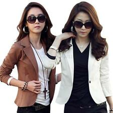 Fashion Women Slim Front Button Casual Business Blazer Suit Jacket Coat Outwear