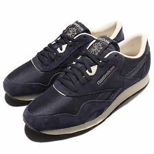 Reebok CL Nylon P Navy White Suede Classic Mens Running Shoes Sneakers  AR1232