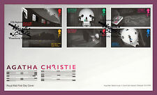 2016 AGATHA CHRISTIE STAMP SET FIRST DAY COVER FDC Winterbrook Handstamp