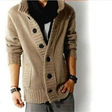 Fashion Mens Knit Sweater Thick Sweater Coat Korean Fit Slim Line Casual jacket